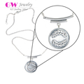 Customized Pendant Silver Couple Necklace Fashion Pure Silver Necklace 925 Silver Necklace
