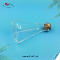 Manufacturer Wine Bottle Shape Transparent Empty Glass Bottle Liquid Containers for Liquid, Candy