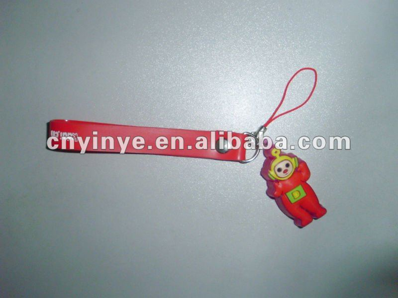Hotsale Lovely Cartoon Pvc Reflective Lighting Mobile Charming/Strap