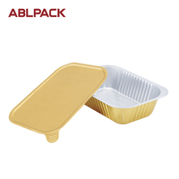 Wholesale Aluminum Foil Disposable Take Away Food Container for Delivery