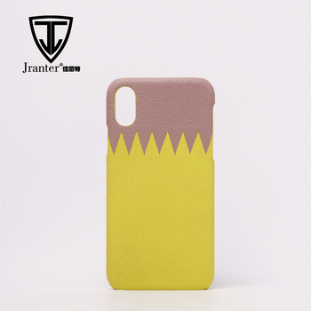 Wholesale Color Blocking Genuine Lambskin Cell Phone Case, Case Cover For Mobile Phone