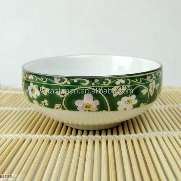 japan ceramic cheap soup bowl with spoons