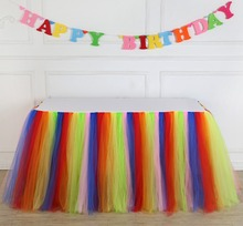 Ramadan Banquet Birthdays Gathering Party Tulle Ruffle Tutu Table Skirting Designs for Wedding