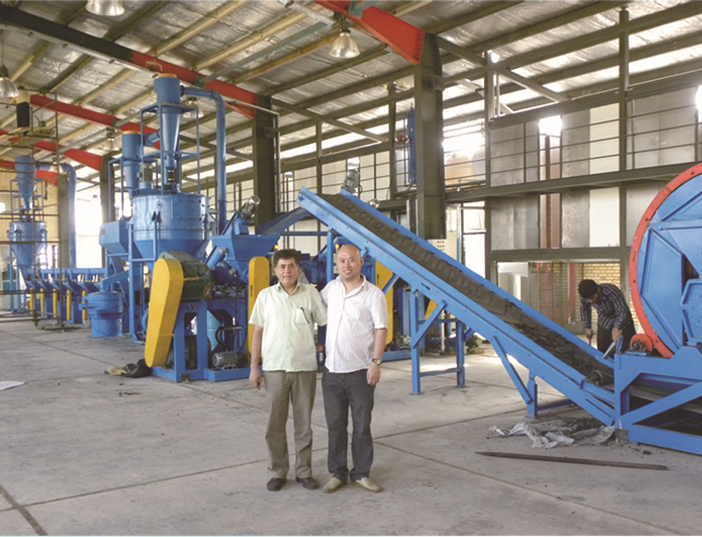 New brand 2017 waste tire recycling line separator