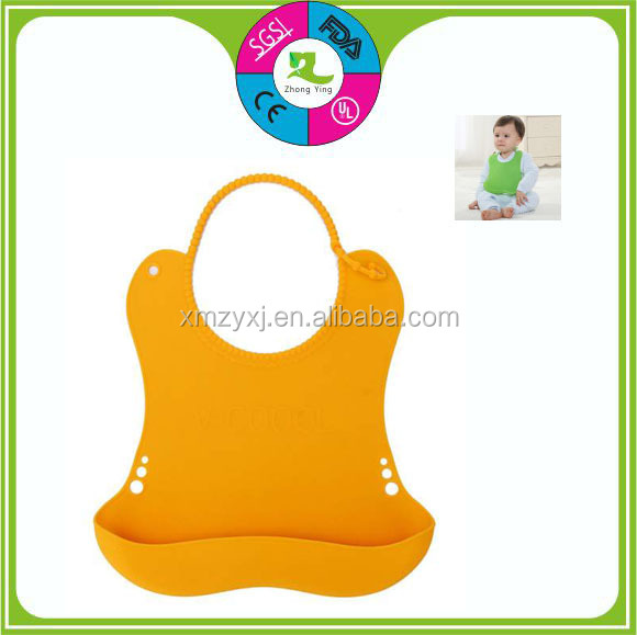 Useful silicone rubber baby bibs