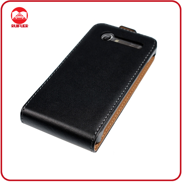 High Quality 100% Genuine Leather Flip Case for Samsung I9070 Galaxy S Advance