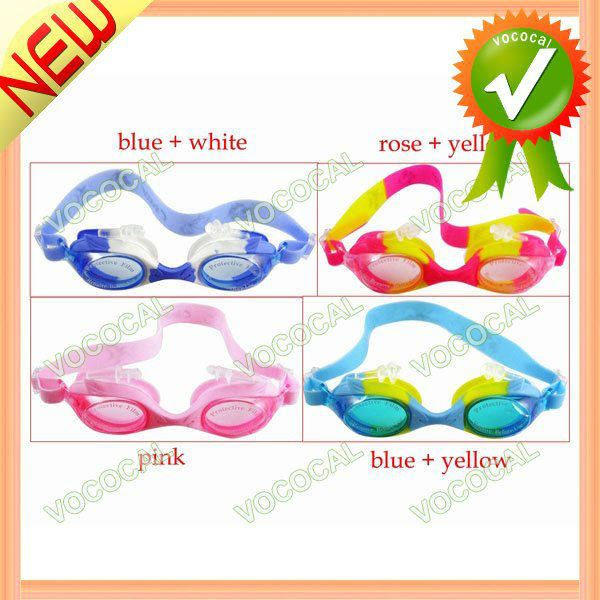 Anti UV Anti-fog Waterproof Kids Swimming Goggles