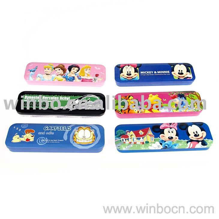Two layers kids students cute pencil case with CMYK printing