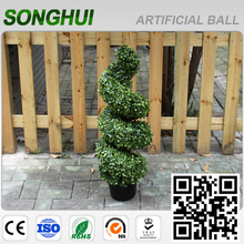 christmas decoration cheap artificial boxwood spiral tree with CE