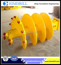 Rock drilling auger Single head single spiral auger for deep foundation rotary rigs BG11 bored piling tools
