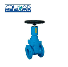 SUFA Brand DN80 Manual Flange End EKB Resilient-seated Gate Valve With Signal GGG50 Water Valve