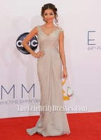 Celebrity Inspired Sarah Hyland In 2012 Emmys Awards Red Carpet Long Beautiful Lady Dress With Small Train For Formal Party