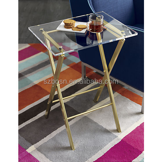 Acrylic folding table foldable furniture wholesale