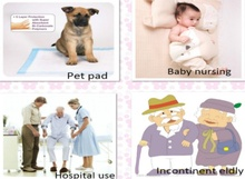 non-woven baby / lady / pet / elder care disposable underpads