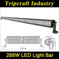 50 inch 10-30V 288W LED LIGHT BAR,Offroad LED work light with spot/flood/combo beam jeep wrangler