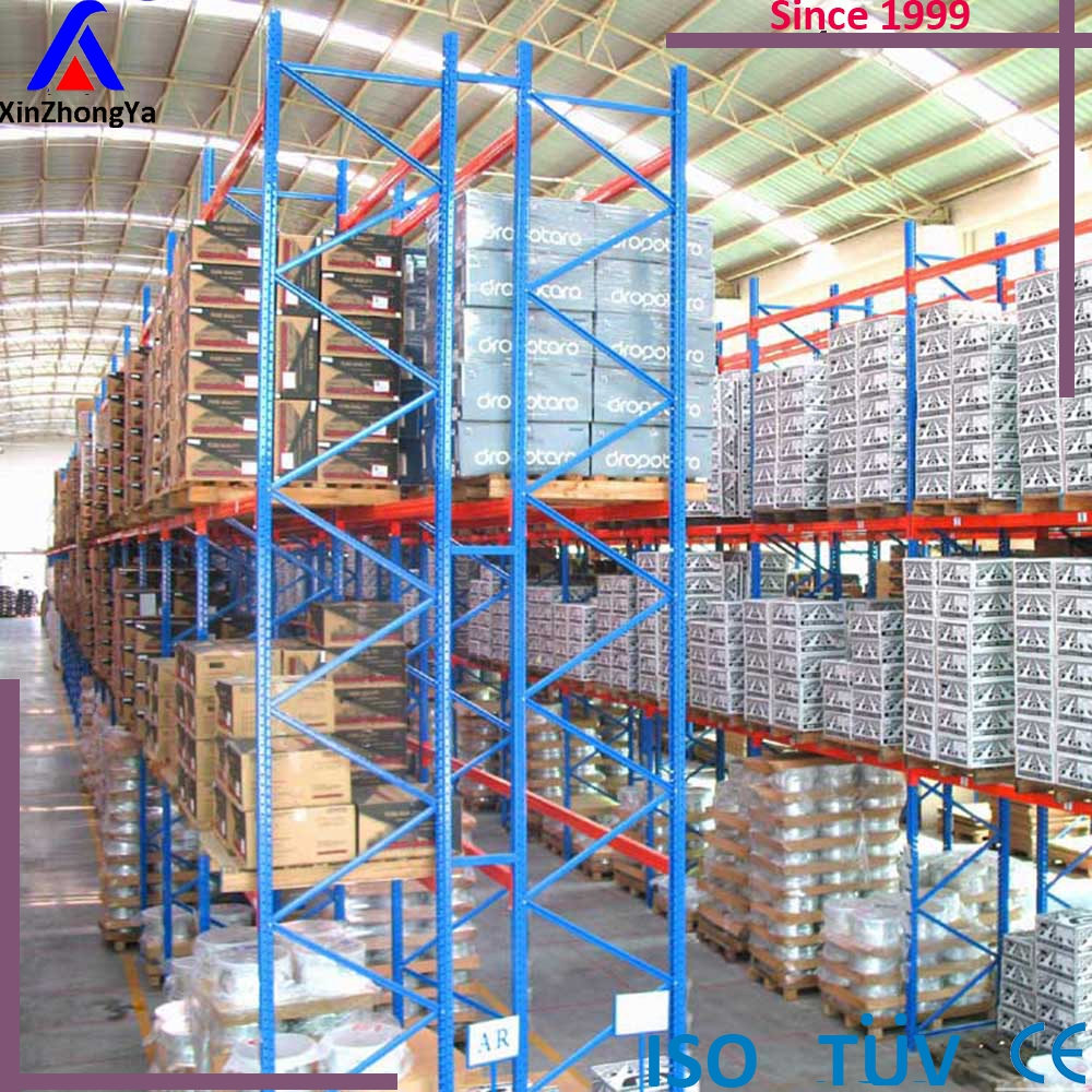 Metal cold storage double deep heavy duty pallet rack