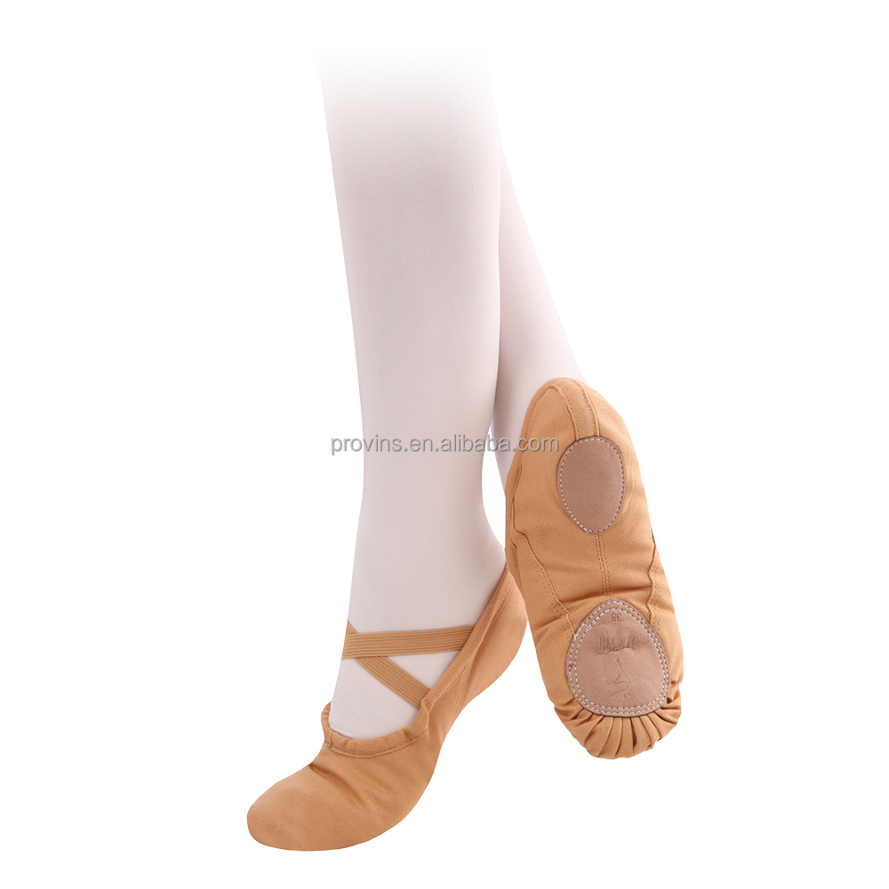 Dansgirl Girls Soft Canvas Split Sole Ballet Dance Shoes Wholesale