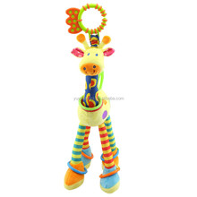 Quality deer hanging giraffe baby rattle toy with bell ring infant teether Toys