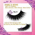 2016 Hot Angel's Wing Volume Fluffy Individual Mink Strip Eyelashes