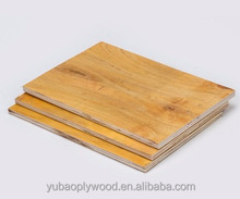 yubao brand construction formwork plastic laminated birch plywood 18mm