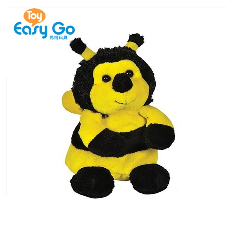 Cute Bee Stuffed Plush Soft Toy Stuffed Animal Happy Smile Bee Toys