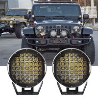 185W Round 9'' Inch LED Cree Driving SpotLight DRL Lamp ARB Replace OffRoad car driving light boat light suv 4x4 bar light