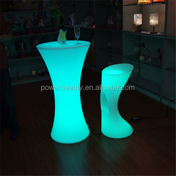 Rechargeable led lighting up illuminated bar plastic chairs for events