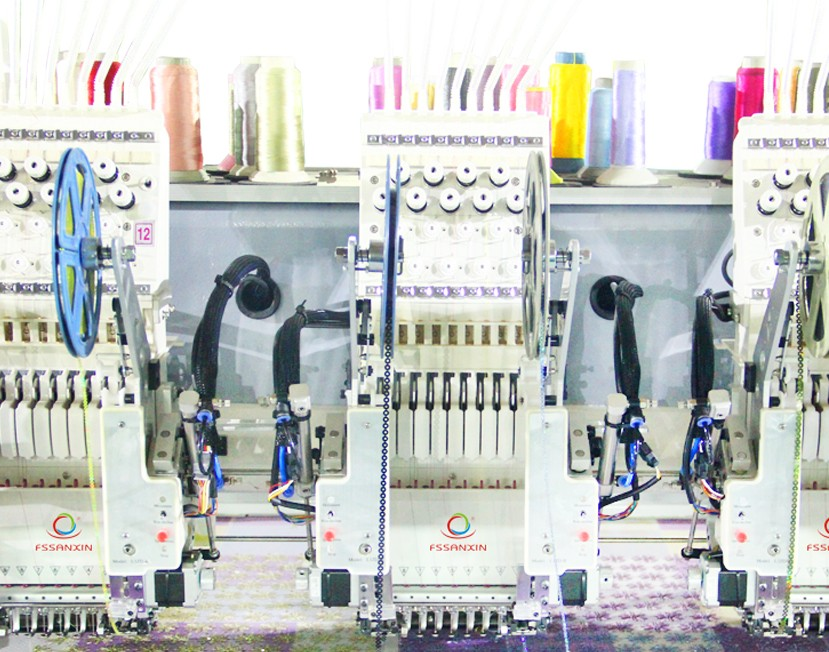 12 heads high speed chainstitch flat computerized embroidery machine