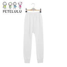 Rubber Band Long Cuffs 100% Cotton Keep Warm Winter Pajamas Kids Boys Pants