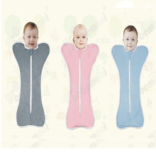Factory custom breathable baby sleeping bag cotton bamboo swaddle baby wrap