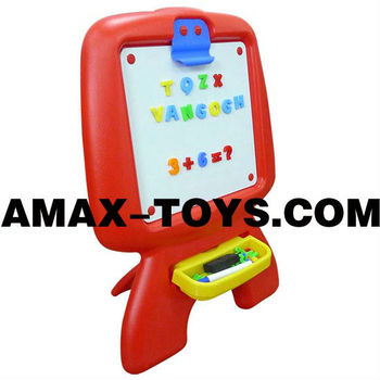 art-072918 easel art Children multifunctional magnetic easel with a stool