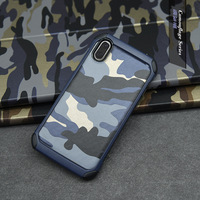 For iphone X Case, 2 in 1 Camouflage resist shock Mobile Phone Case Non-slip Protective Cover Shell for iPhone 8 case TPU