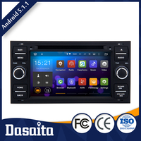 Wholesale Black Colored 7 inch multi touch screen android 5.1.1 car audio dvd player gps navigation system for Ford Fusion