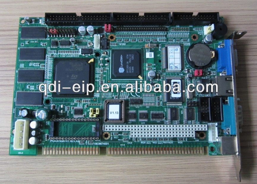 Advantech PCA-6740F-0CA2E Industrial motherboard CPU Boards-ISA Elite Slot SBC. 133/32MB/VGA /LCD/Fast Ethernet/DOC/PC104