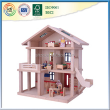 a-frame house kit full set of furniture and cute dolls
