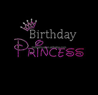Hotsell Rhinestone Birthday Princess Letters Iron On Crown Transfers