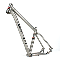 Full Suspension Titanium alloy bike frame with 41/52mm taper headtube