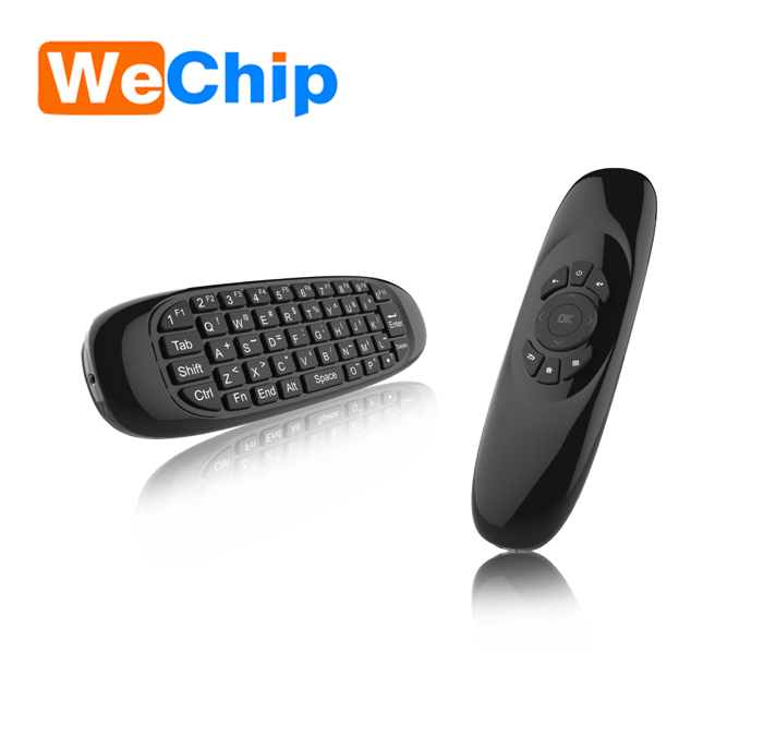 Hot selling air fly mouse G64 V+android remote +keyboard 2.4g wireless C120 in stock for Android 6.0 TV Box