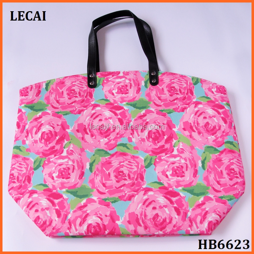 Wholesale Monogram Personalized Lilly Tote Bag