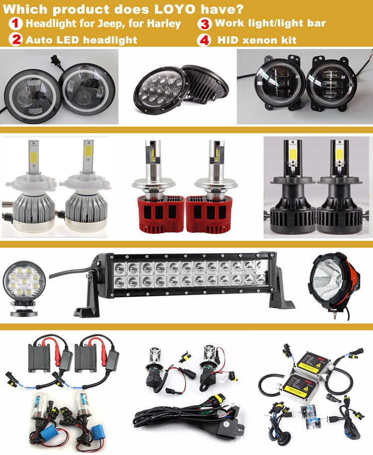 Guangzhou LOYO high quality 36w LED head light accessories market used auto 12v 24v h3 h4 9005 880