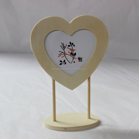 Wood crafts creative heart shaped wooden picture digital photo frame