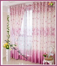 The new garden style living room curtains high-grade semi shade curtain