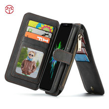 CaseMe For iPhone X hot selling pu leather wallet folio style mobile phone case cover made in China