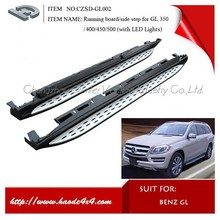Nerf Side Step Bars Running Boards for mercedes benz gl x166 with LED Lights
