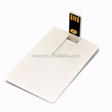 2GB/4GB/8GB white Blank Credit Card Shape USB 2.0 Flash Drive Memory High Qualtiy