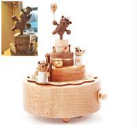 Wooden & Metal hand crank music box spinning music box and miniature Guitar Shape handcrank music box Item Type for decor