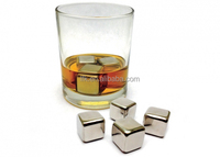 The NEWEST Stainless Steel Ice Cube, Whisky Stone,Wine Chiller LFK-IC01