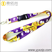 Sublimation full color printings custom logo neck lanyard 2.5cm wide cheap printed lanyards