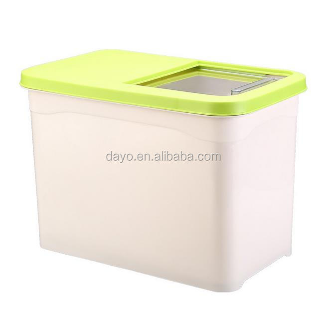New Arrival Kitchen Creative Storage Helper 10 KG Plastic Rice Bucket Container Bin with Lid