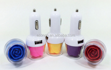 Double USB Ports Lighting Rose 5V 3.1A/2.1A USB Car Charger Power Charging Adapter For iPhone 6 6Plus 5 5S Smartphone
